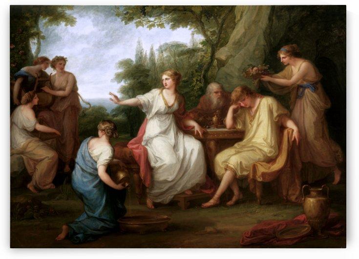 The Sorrow of Telemachus by Angelika Kauffmann by xzendor7