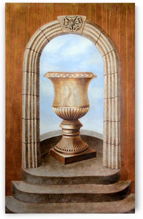 Marbled Urn Alcove - Trompe Loeil by Wallshazam