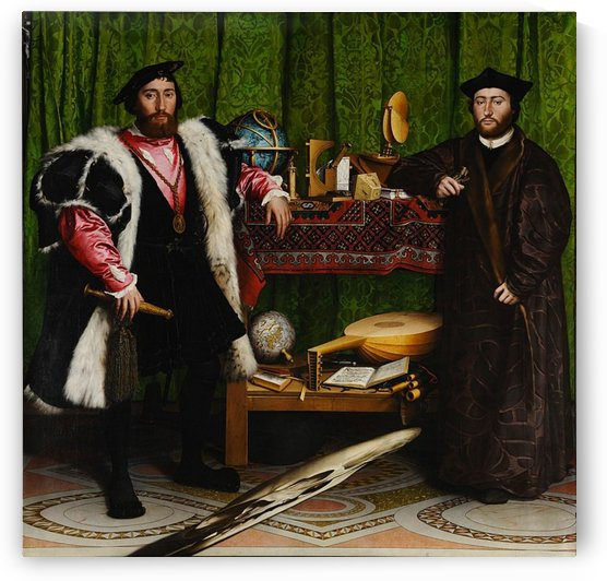 Hans Holbein: The Ambassadors HD 300ppi by Famous Paintings