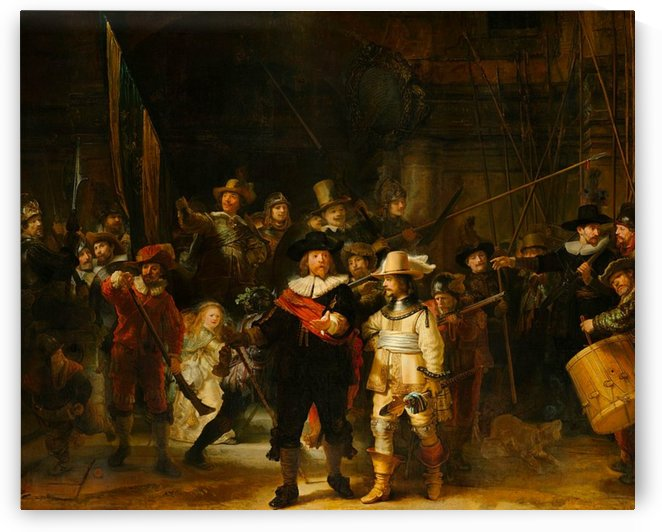 Rembrandt van Rijn: The Night Watch HD-300ppi by Famous Paintings