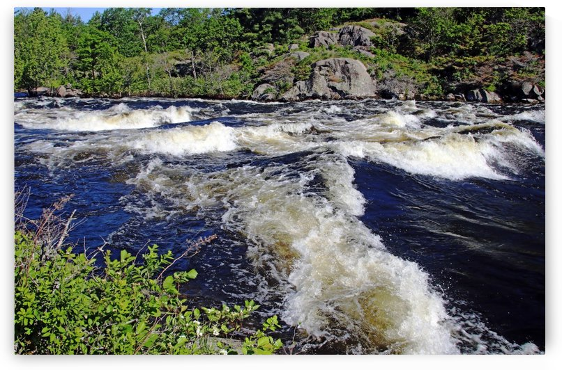 Whitewater Dalles Rapids by Deb Oppermann