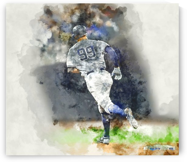 AARON JUDGE Water Color Print - New York Yankees print by Dinger Studios