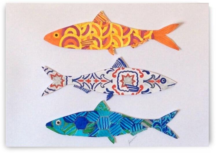 Tres Sardines  by Jill Nemani