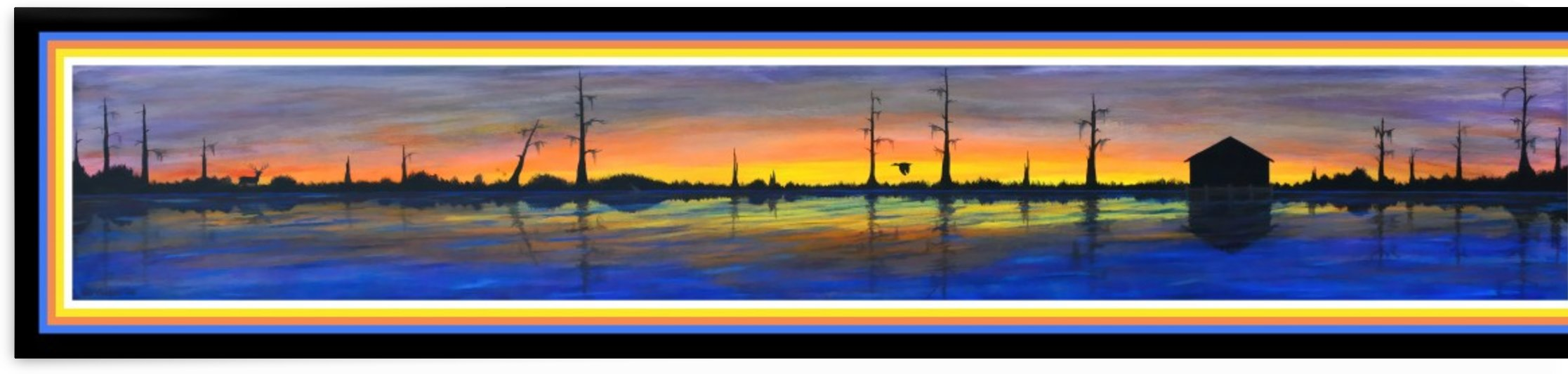 WINTER MARSH  III - ORIGINAL ACRYLIC by Digicam