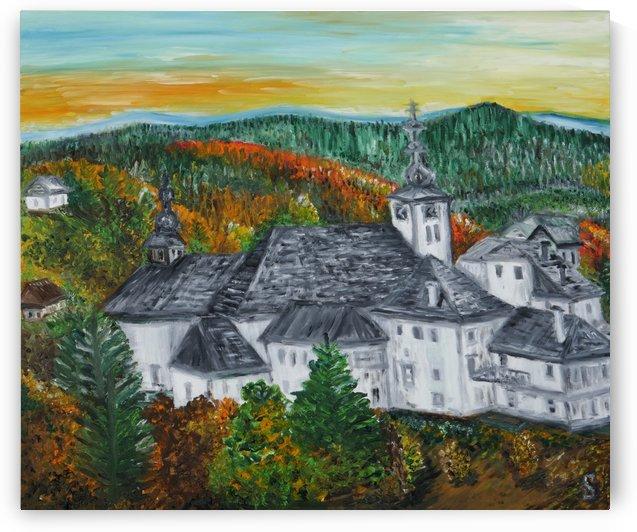 Spania Dolina Church Slovakia by Tomas Strelinger. Original size 60X70cm by Edwin John