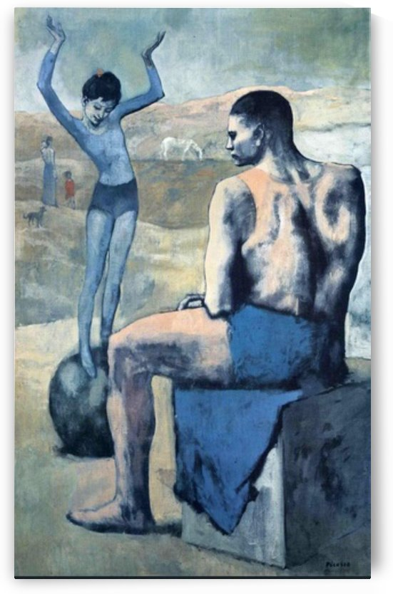 Pablo Picasso. Girl on the Ball HD 300ppi by Famous Paintings