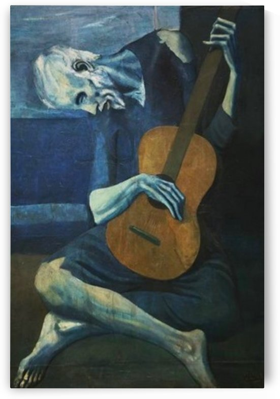 Pablo Picasso. The Old Blind Guitarist HD 300ppi by Famous Paintings