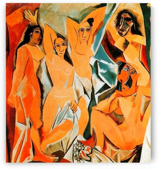 Pablo Picasso. The Girls of Avignon HD 300ppi by Famous Paintings