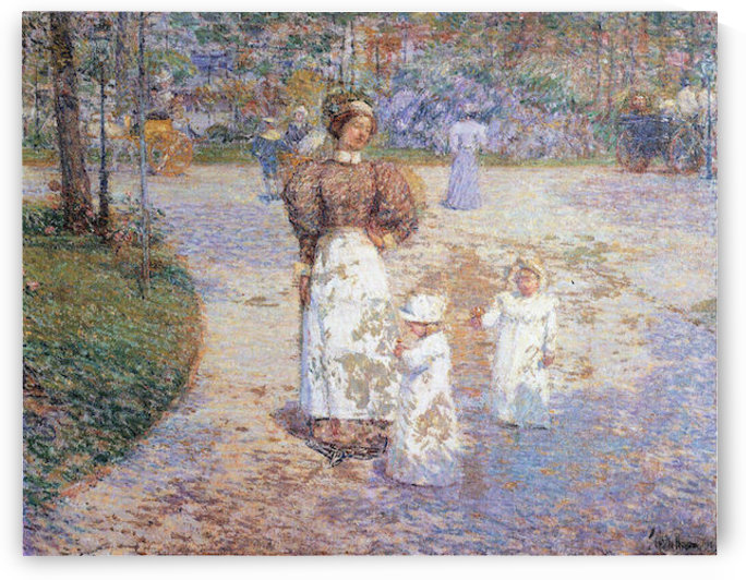 Spring in Central Park by Hassam by Hassam