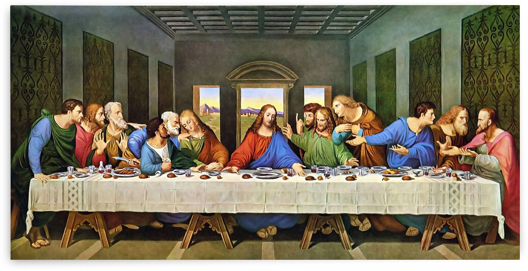 Leonardo da Vinci. The Last Supper HD 300ppi by Famous Paintings