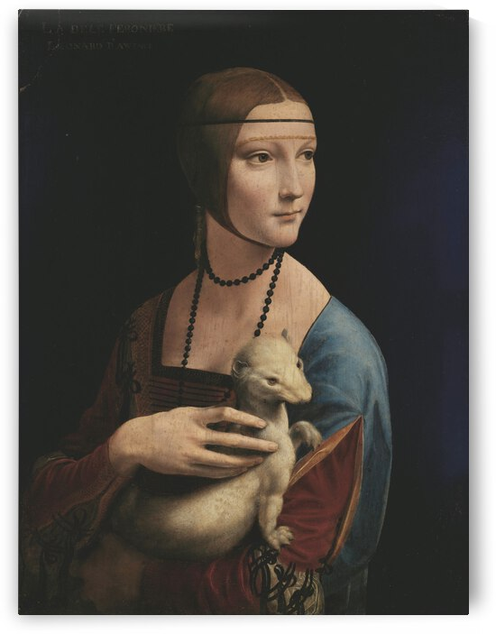 Leonardo da Vinci. The Lady with an Ermine Cecilia Gallerani HD 300ppi by Famous Paintings
