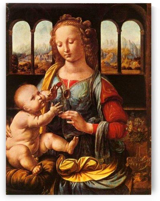 Leonardo da Vinci. The Madonna of the Carnation HD 300ppi by Stock Photography