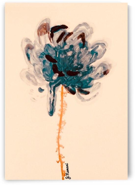 Petrol Blue Hue  by Zaramar Paintings