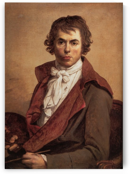 David Self Portrait by Jacques-Louis David