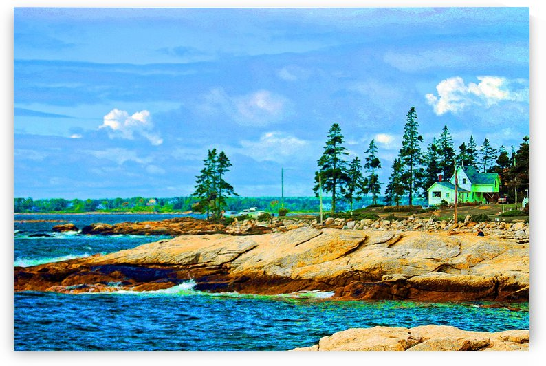 The Colorful Maine Coast by FoxHollowArt