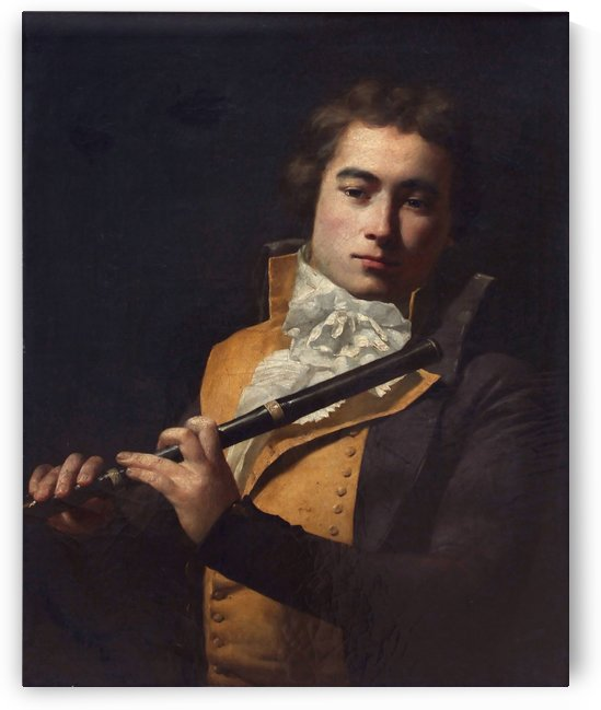 Portrait du flutiste by Jacques-Louis David