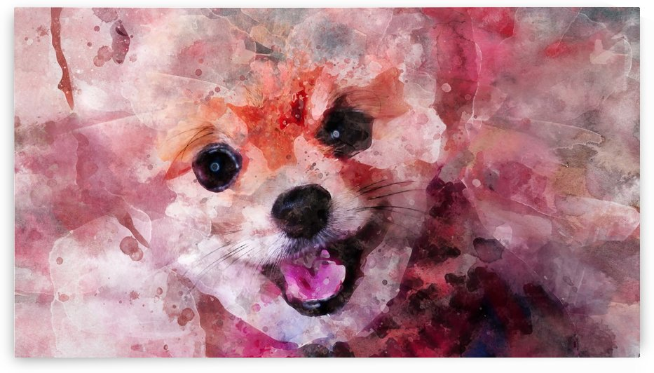 POMERANIAN DOG WATERCOLOR PORTRAIT by ASP ARTS