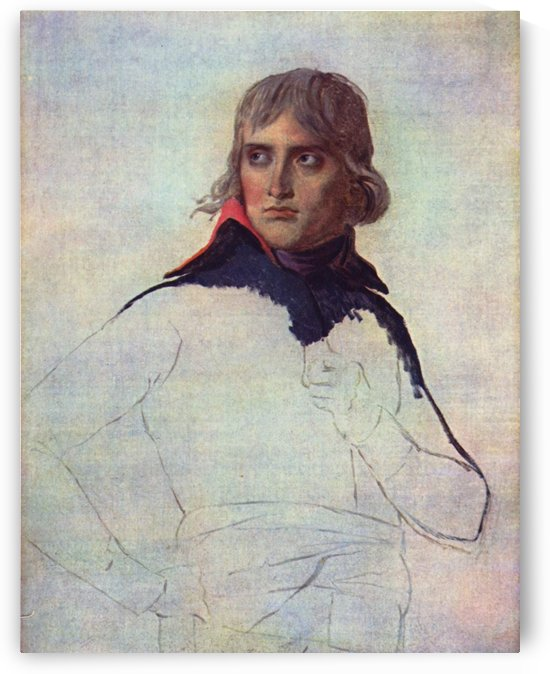 Unfinished portrait of Napoleon by Jacques-Louis David