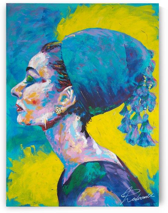 Audrey Hepburn 02 Portrait Art - Tadaomi - by Tadaomi K