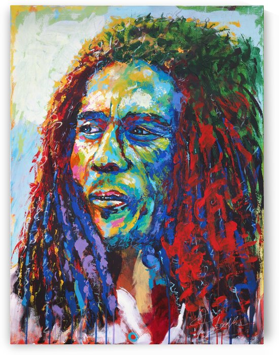 Bob Marley  Portrait Art - Tadaomi - by Tadaomi K