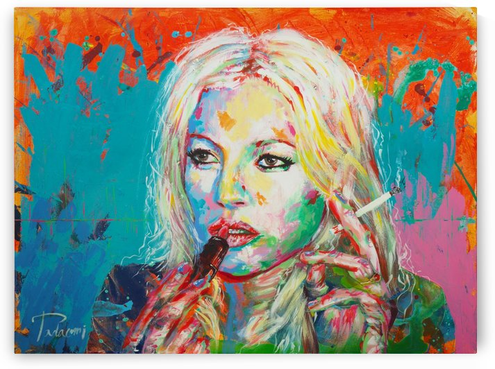 Kate Moss  Portrait Art - Tadaomi - by Tadaomi K