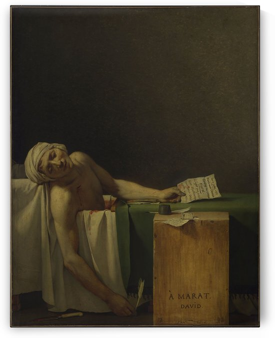 David Marat assasinated by Jacques-Louis David