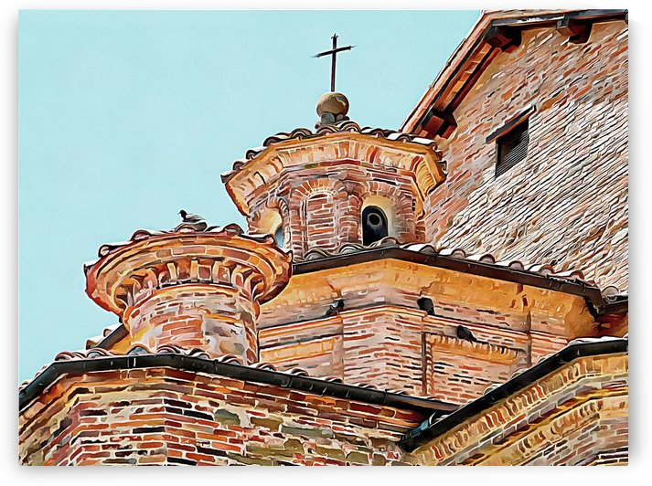 Religious Roofline Roosting by Dorothy Berry-Lound