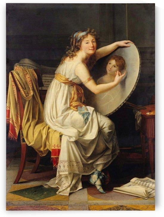 Portrait of mademoiselle gui by Jacques-Louis David