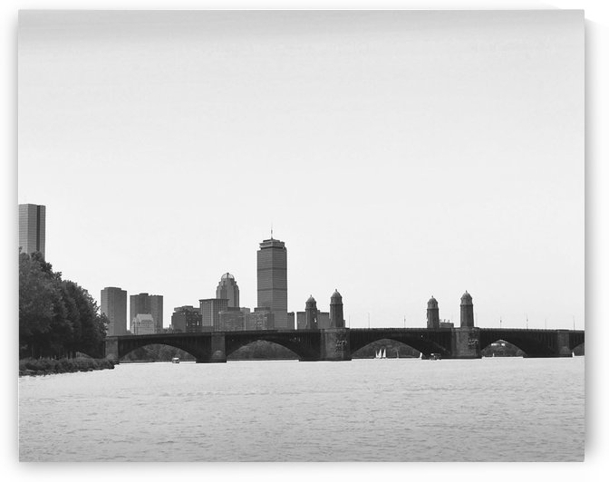 Salt & Pepper Bridge & The Pru Charles River Boston by FoxHollowArt