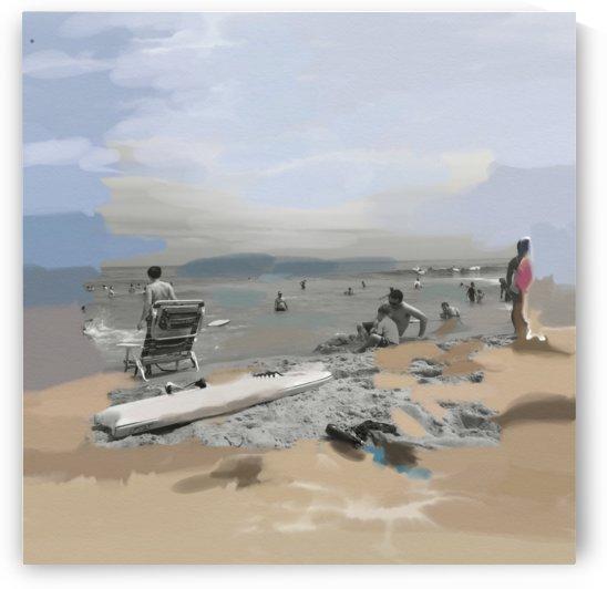Beach Scene by Sarah Butcher