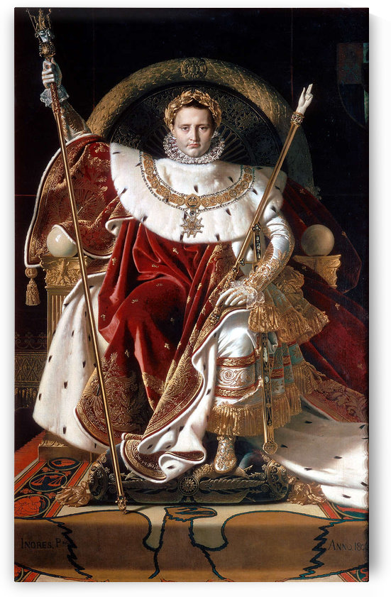Napoleon on his imperial throne by Jacques-Louis David