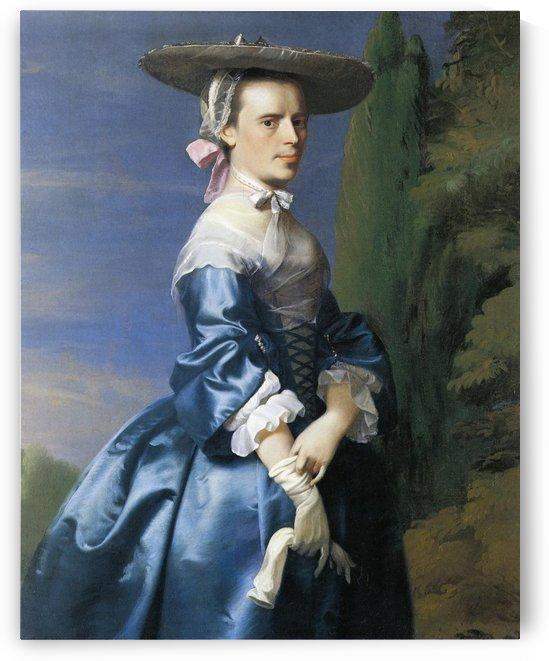 A lady in blue dress by John Singleton Copley