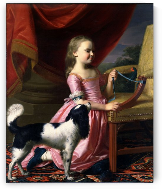 Young Lady with a Bird and a Dog by John Singleton Copley