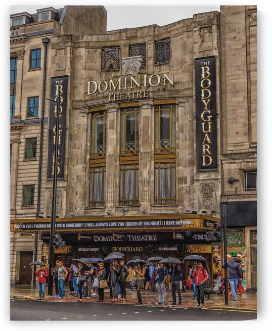 Dominion Theater in London by Darryl Brooks