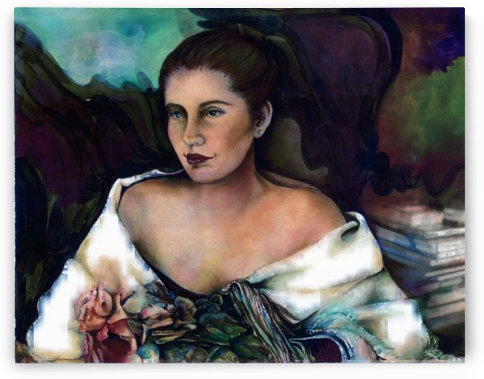 Spanish Lady With A Rose by  Gloria Nova