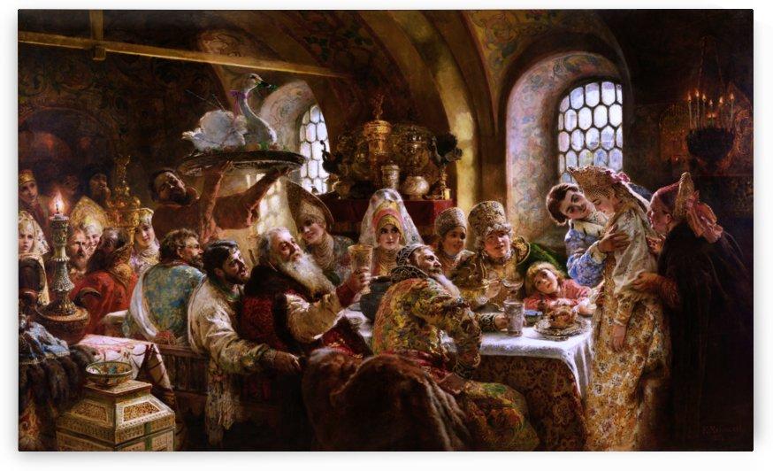 A Boyar Wedding Feast by Konstantin Makovsky by xzendor7