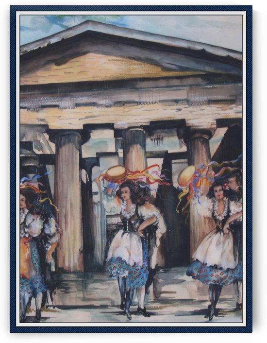 Italian Tamborine Dancers  by  Gloria Nova