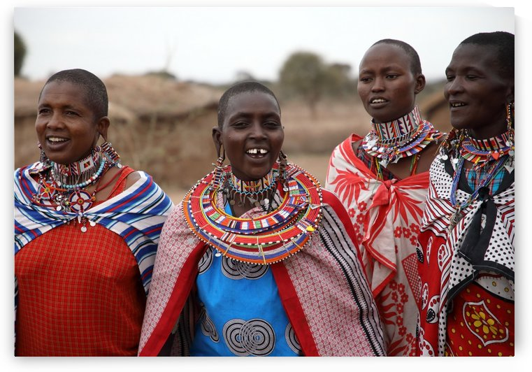 Four Masai Women by Eliot Scher