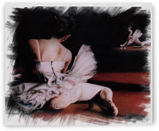 Ballerina In The Mirror .  by  Gloria Nova