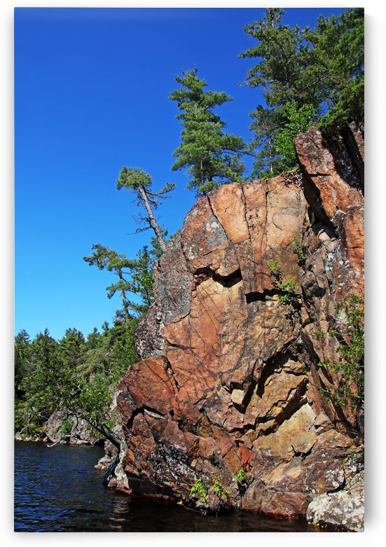 Rugged Vertical Rock Wall by Deb Oppermann