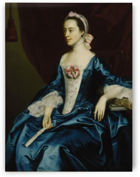 Lady in a Blue Dress by John Singleton Copley