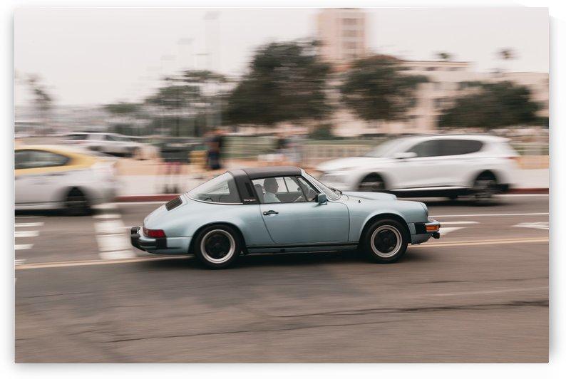 Blue Porsche by Aaron Rodriguez