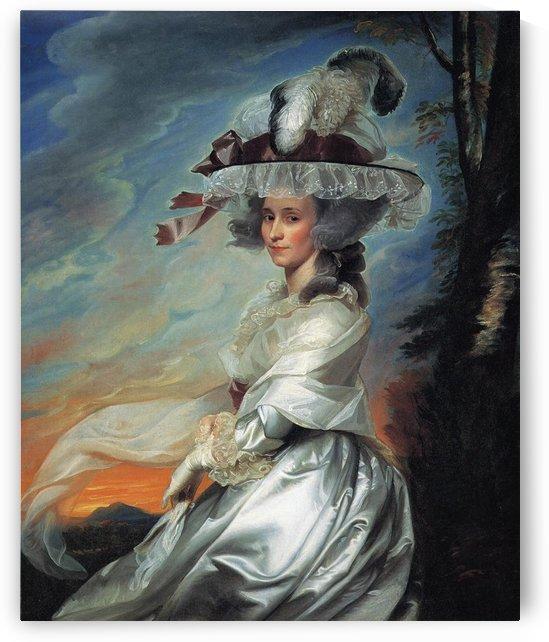 A lady with a big hat by John Singleton Copley