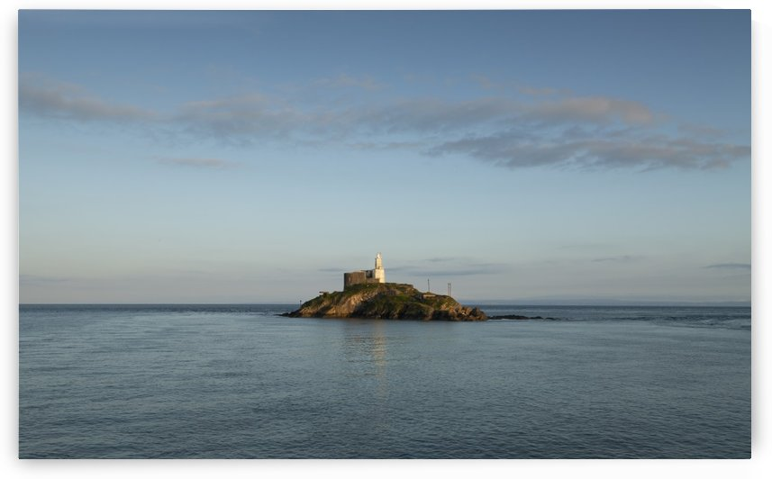 Mumbles Lighthouse island by Leighton Collins