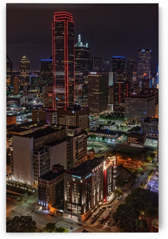 Night Time Dallas Texas by Mike Duran