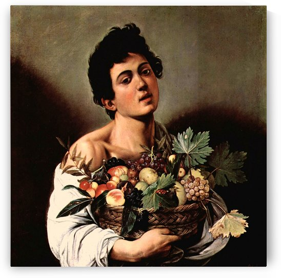 Man with basket by Caravaggio