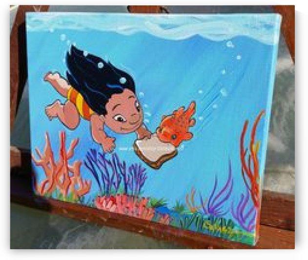 8c026aea65ba6248f934ef5d25316398  lilo and stitch canvas lilo and stitch painting by Delcie
