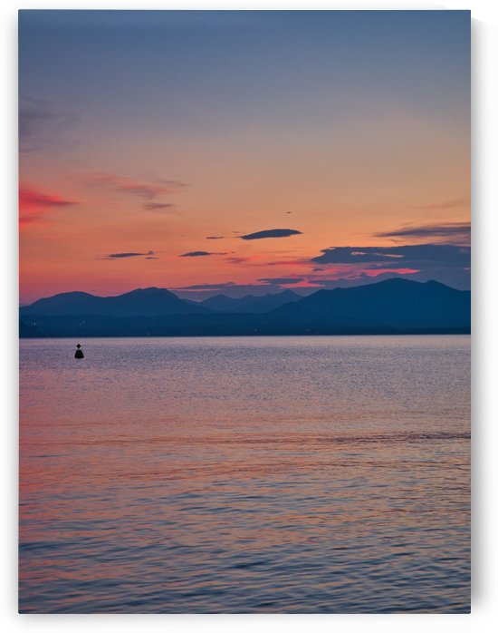 Spectacular sunset view from the village of Bardolino on the shores of Lake Garda by Pixelme ca