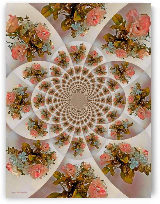 Floral Kaleidoscope Pink by Faye Anastasopoulou