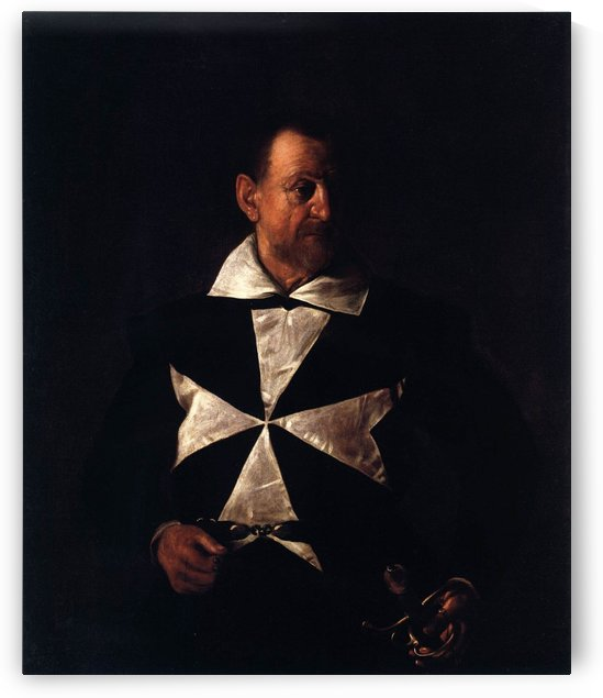 Portrait of a Maltese Knight by Caravaggio
